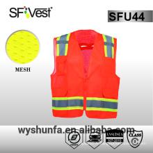 ANSI / ISEA 107-2010 vêtements de travail réfléchissants 3m veste de protection réfléchissante vêtements de sécurité réfléchissants 100% polyester maille