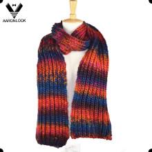 Estilo Trendy colorido do lenço do inverno feito malha