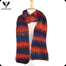 Trendy Colorful Knitted Winter Scarf Style