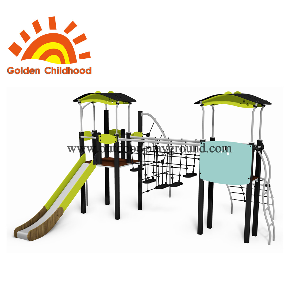 Double Tower Playset Outdoor Playground Facility For Sale