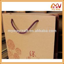 Arts et métiers kraft sacs en papier sac à provisions pliable acheter chez Chine fournisseurs