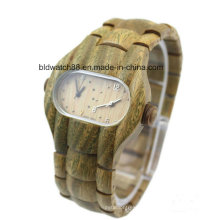 Analog Quartz Dual Face Wooden Watches for Men