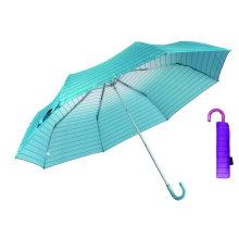 Strip Rainbow Compact Aluminium Light Umbrella (YS-3FM21083949R)