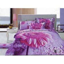 2015 100% Algodão 3D Floral Design Bulk Bed Sheets China Wholesale