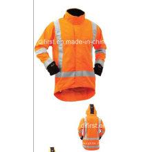 Высокой видимости куртка с водонепроницаемой