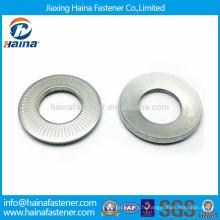 NF E 25-511 en acier inoxydable 304 rondelle de contact, rondelle aile, rondelle courbe