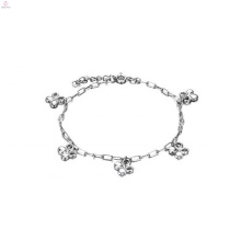 Copper plating platinum ladies ankle bracelet, silver charm anklets design jewelry