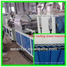 pvc, pmma, espuma pvc tres capas de tejado corrugado que hace la máquina