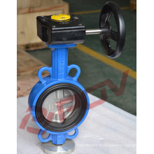 wafer hand lever carbon steel butterfly valve for water