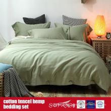 Baumwolle Lyocell Hanf Blended Bettbezug-Set Großverkauf der Fabrik