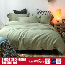 Cotton Lyocell Hemp Blended Duvet Cover Set Venta directa de fábrica