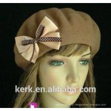 snow winter beautiful bowknot warm knit beanie hats