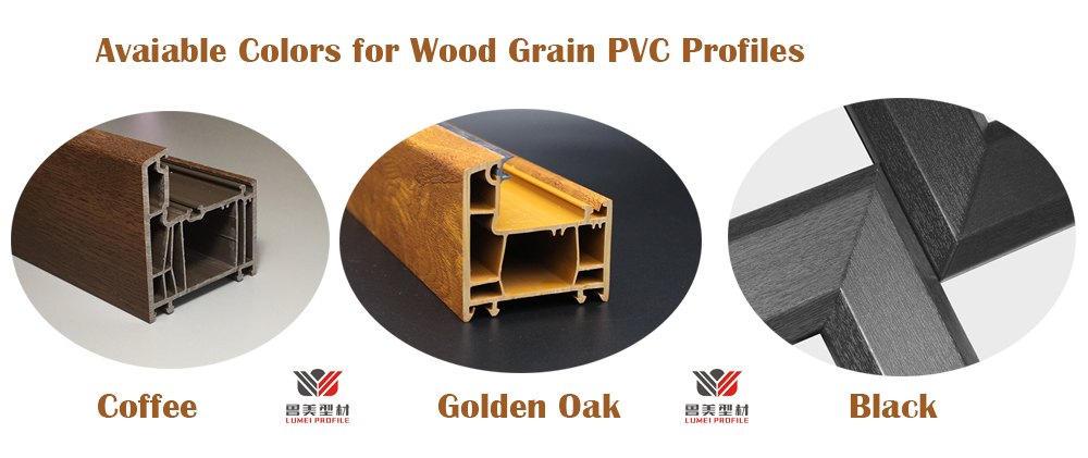 Available Pvc Wood Grain Color