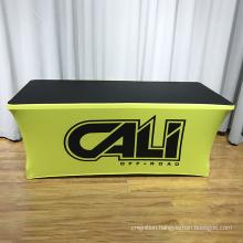 custom simple design cloth 6ft wedding table throw with logo
