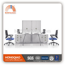 (MFC)PT-03-1Fe stainless steel frame office furniture high quality for 4 persons workstation