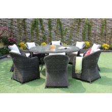 Set de comedor de mimbre para jardín al aire libre