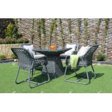 Set de café / salle à manger en polyéthylène en poly synthétique pour jardin extérieur