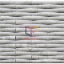 White Marble Bamboo Shape Mosaic Tile (CFS916)
