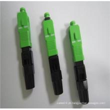 Conectores Rápidos de Fibra Óptica UPC Quick SC / APC, conector rápido de fibra óptica SC para cabo de queda FTTH