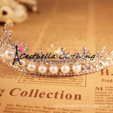 Hot Selling Pearl Floral Crystal Fashion cristal strass Bridal Head wear vestidos de casamento