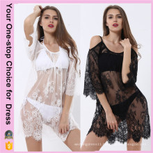 Women Plus Size Summer Beach Sexy Lace Beach Dress (50094)