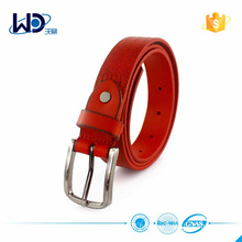 2016 Durable Red Cow Hide Leather Belts