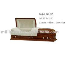 Maple veneer casket