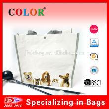 Рециркулированные сплетенные PP кладет в мешки, Прокатанные сплетенные PP мешок, напечатанный мешок сплетенный PP