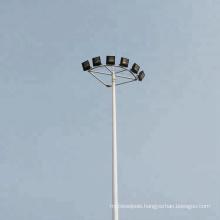 Factory customized round polygonal octagonal 25m 30m hot dip galvanized high mast light pole for square lighting