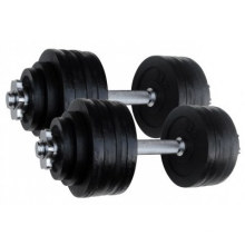 Painting 52.5lb Adjustable Dumbbell with Chrome Bar