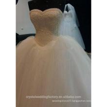 Robe De Mariage Sweetheart Lace Pearls Bridal Wedding Gown Vestido De Noiva Ball Gown Wedding Dress CWF2326