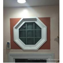 Fenêtre de PVC adaptée aux besoins du client avec le verre double 5 + 12A + 5mm de verre