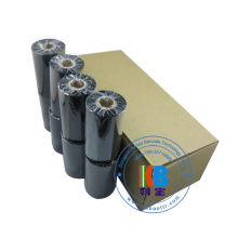 Impresora de ropa ttr compatible color negro cinta de transferencia térmica prohibarcode máquina de impresión