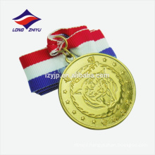 Blank antique gold zinc alloy custom souvenir medal metal