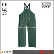 Polyester PVC Waterproof Rain Bib Trousers