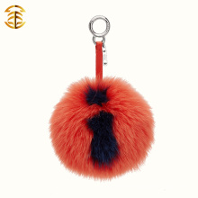 Factory Directly Supply Grande taille Lettre Fox Fur Pom Poms Bag Charms