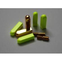 Cuadrado / redondo / metal bullet Punta de encaje de oro / personalizado Agee Yeezy para la webbing, cordón y cordón