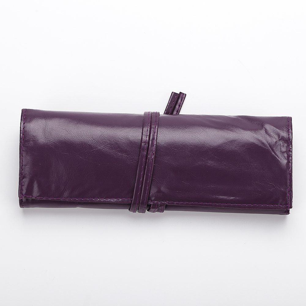 Purple Pu Bag Makeup Brush Set