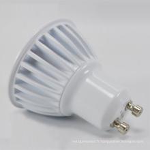 Ampoule LED haute efficacité de vente chaude de 3W / 5W GU10