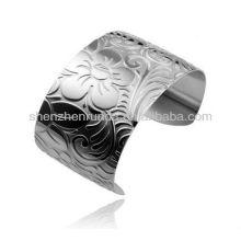 Flower bloom butterflies fly pattern modern stylish 304L/316L stainless steel for women's fashion bangles jewellery accesories