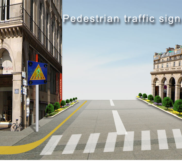 pedestrian traffic road sign_01