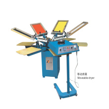 SPM450 manual carousel screen printing equipment for non-woven bag