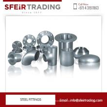 Diferentes materiales de acero al carbono, acero suave, accesorios de acero inoxidable