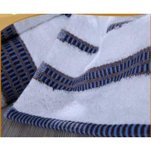 100%cotton colored dobby white towel set