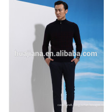 100% cashmere man's sweater pullover with zip