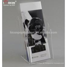 China Hersteller bietet kostenlose Design-Werbung Elegant Acryl Broschüre Stand Display Zeichen Inhaber