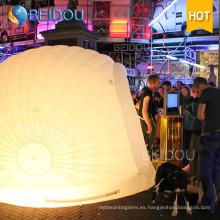 Eventos LED Decoración de la boda del partido Marquee Military Dome Inflatable Wall Tent House
