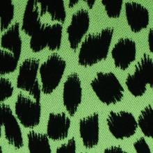 Poliéster leopardo manchas e corações flocagem tecido
