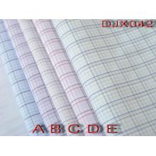 Polyester Cotton Check Yarn Dyed Shirt Fabric Djx042