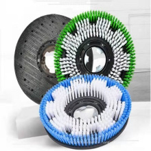factory direct supply wholesale high efficient outdoors industrial 17 inch pad drive wood floor nylon plastic carpet floor brush